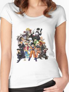 All Anime Heroes Manga Women's Fitted Scoop T-Shirt