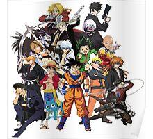All Anime Heroes Manga Poster