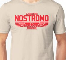 NOSTROMO ALIEN MOVIE STARSHIP (RED) Unisex T-Shirt