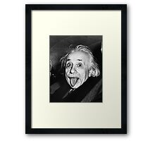Albert Einstein Tongue Framed Print