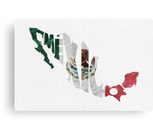 Mexico Typographic Map Flag Metal Print