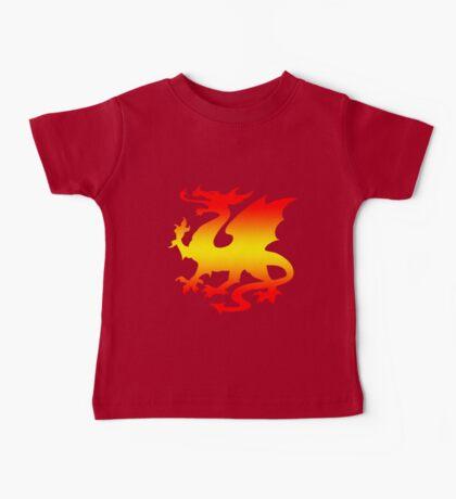 Hot Fire Dragon Design Baby Tee