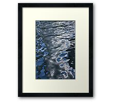 Dreaming of Silk Dresses - Mesmerizing Liquid Curls, Twists and Zigzags Framed Print