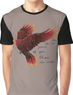 """There is No Part of You That is Weak"" Galaxy Raven Graphic T-Shirt"