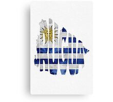 Uruguay Typographic Map Flag Canvas Print