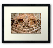 Brick elephants Framed Print