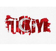 Turkey Typographic Map Flag Photographic Print