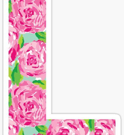 """""""L"""" Rose Letter Sticker"""