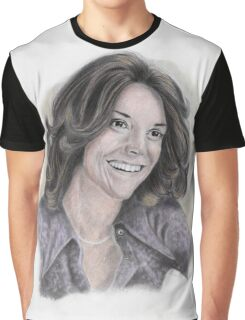 Karen Carpenter Tinted Graphite Portrait Graphic T-Shirt