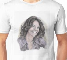 Karen Carpenter Tinted Graphite Portrait Unisex T-Shirt