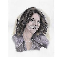 Karen Carpenter Tinted Graphite Portrait Photographic Print