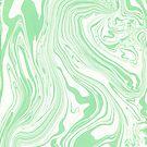 Light Green & White Marble Swirls by artonwear