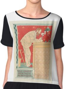 Architect Art Nouveau Poster  Women's Chiffon Top