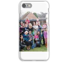 Gran with her grandchildren and families 2014 iPhone Case/Skin