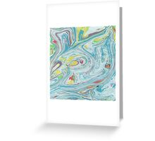 Pastel Colors Marble Swirls Greeting Card