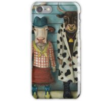 Cattle Line Up iPhone Case/Skin