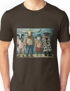 Cattle Line Up Unisex T-Shirt