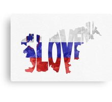 Slovenia Typographic Map Flag Metal Print