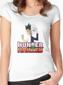 Hunter x Hunter- Killua Zoldyck & Gon Freecss Women's Fitted Scoop T-Shirt
