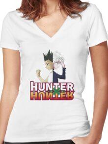 Hunter x Hunter- Killua Zoldyck & Gon Freecss Women's Fitted V-Neck T-Shirt