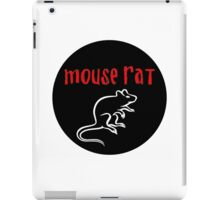 Mouse Rat band logo black background iPad Case/Skin