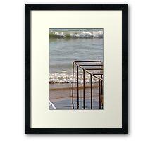 The Rising Ocean - Les Sables d'Olonne, France Framed Print