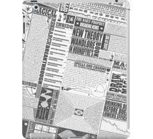 Wizarding Newspaper during Coffee (black&white) iPad Case/Skin