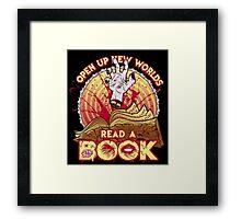 Evil Dead read a book.... Framed Print