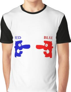 RED-BLUE Graphic T-Shirt
