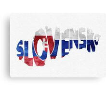 Slovakia Typographic Map Flag Canvas Print
