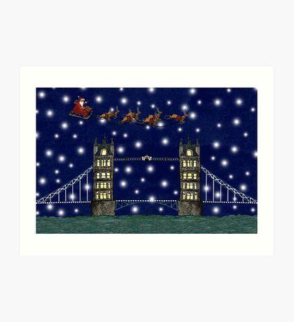 A London Christmas Eve Art Print