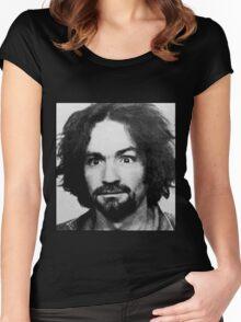 Charles Manson Mugshot Women's Fitted Scoop T-Shirt