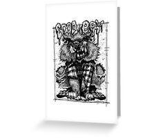 Werewolf - Good Boy Greeting Card