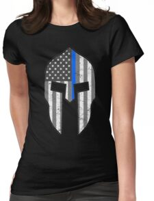 American Spartan Thin Blue Line  Womens Fitted T-Shirt