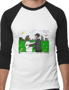 Be kind by greeting each other  Men's Baseball ¾ T-Shirt