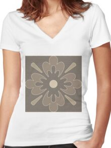 Ghost Blossoms Women's Fitted V-Neck T-Shirt