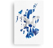 Scotland Typographic Map Flag Metal Print