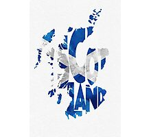 Scotland Typographic Map Flag Photographic Print