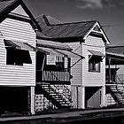Old Cottages, Maclean b/w by wallarooimages