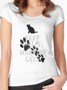 keep calm warrior cats Women's Fitted Scoop T-Shirt