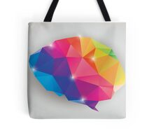 Abstract geometric human brain, triangles, creativity Tote Bag