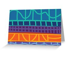 Geometric Pattern Block No. 5 Greeting Card