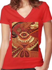 Animal Collective 2010 Women's Fitted V-Neck T-Shirt