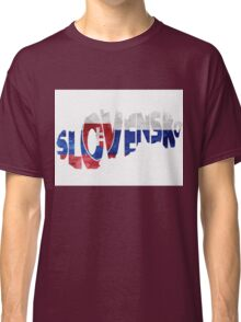 Slovakia Typographic Map Flag Classic T-Shirt