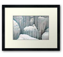 Ice fountain Framed Print