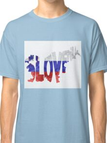 Slovenia Typographic Map Flag Classic T-Shirt