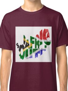 South Africa Typographic Map Flag Classic T-Shirt