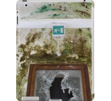 Old window with broken glass iPad Case/Skin