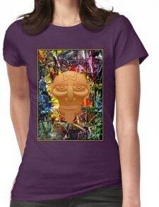 AFRICAN JUNGLE; Abstract Witch Doctor Print Womens Fitted T-Shirt