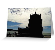 Vintage Belem Tower Silhouette 2 | Torre Belem Greeting Card